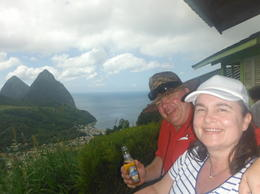 The Pitons mountains , Carole W - March 2017