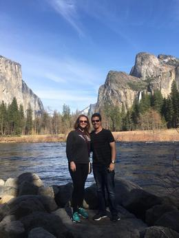 The last stop at Yosemite was my favorite. El Capitan and Half Dome behind us , Sheryl S - March 2017