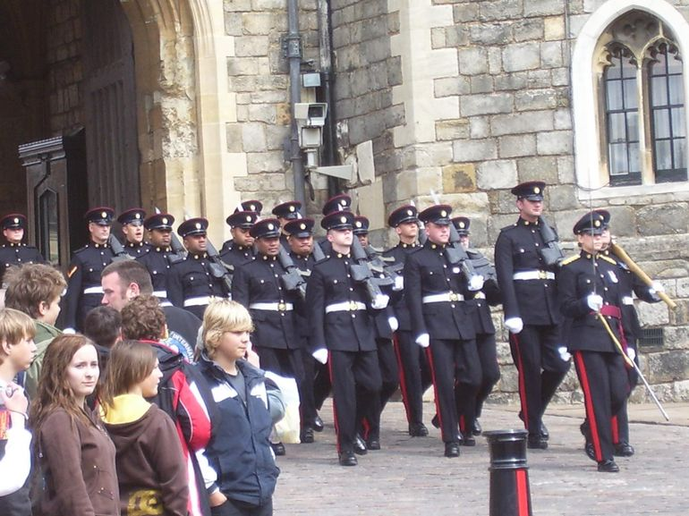Changing of the Guard at Windsor Castle - London