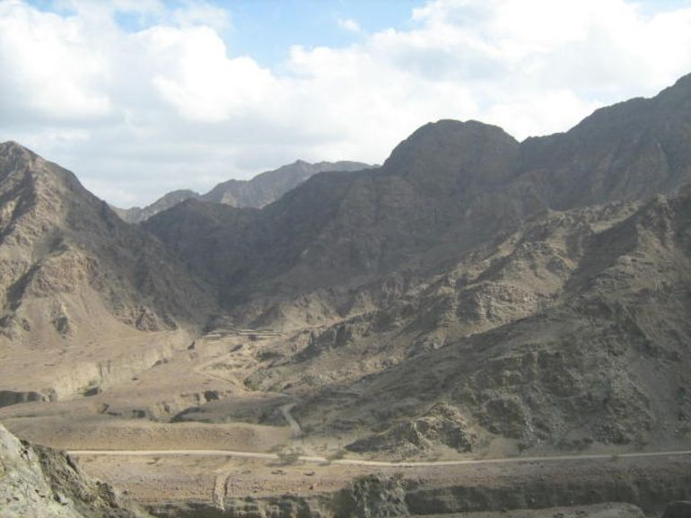 In the mountains near Musafi - Dubai
