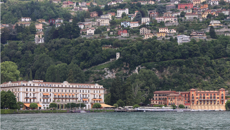 Lake Como - view from boat - Milan