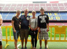Sharon, Mike, Jack and Sam- Pitch side , Sharon - September 2013