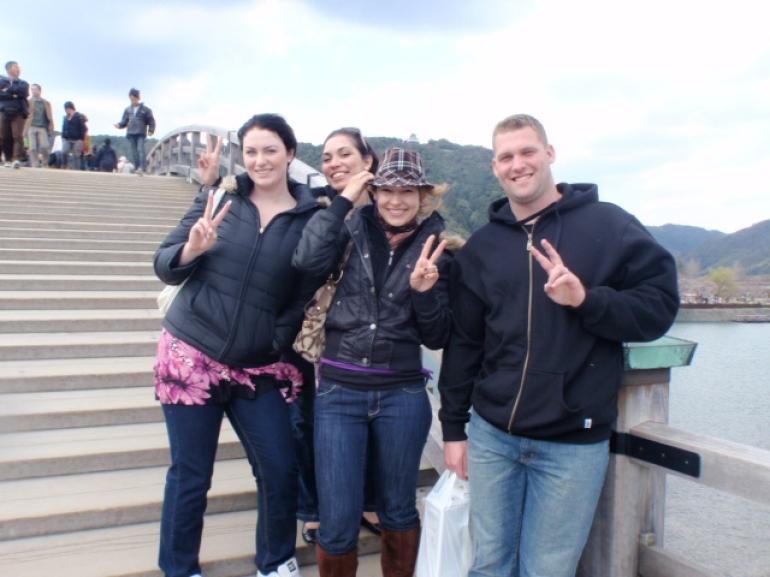 On the Kintai Bridge - Osaka