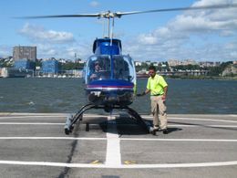 A view of our helicopter just before the flight., Nigel M - September 2008