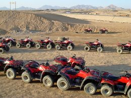 Quad bikes waiting to go - October 2009