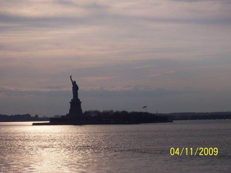 Statue of Liberty from Staten Island Ferry - New York City