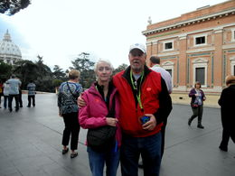 The happy couple getting ready to enter the museum of the Vatican , Greg W - November 2013