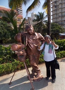 Good see most famous film bollywood director Yash Chopra statue. , Miss R B - January 2014