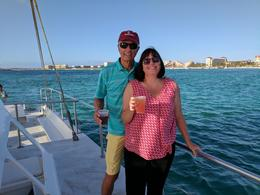 Jeanne and Dick Rietzke with Palm Beach in the background , Jeanne L - May 2017