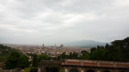 The gorgeous view of Florence outside one of the oldest churches there. , Brontë S - June 2017