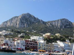 View of the town of Capri from the ferry. , John M - October 2012