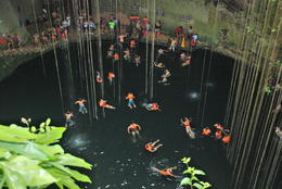 Swimming in the cenote , HONESTO A - January 2015