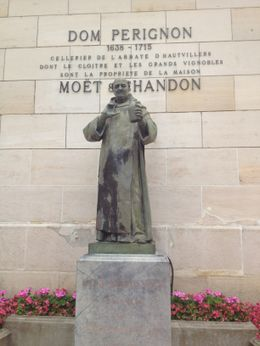 Statue of Dom Pérignon to greet you at Moët and Chandon! , Lynee - July 2012