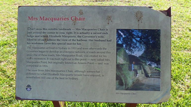 Macquaries Chair description - Sydney