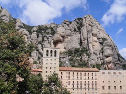 Montserrat Royal Basilica from Barcelona - July 2012