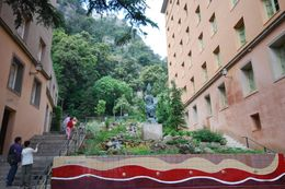 Here is the garden pathway to catch the funicular - 20 minutes up and 20 minutes back - to go exploring., Theresanne S - July 2009