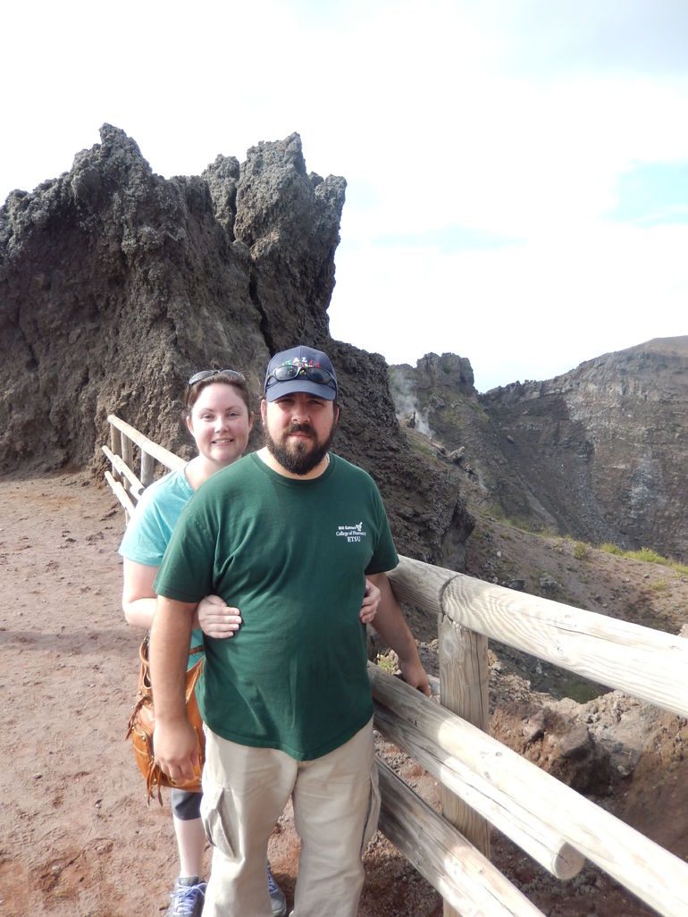 My husband and I at the top of Mt Vesuvius! - Naples