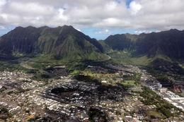 Flying over Oahu, Jules & Brock - September 2012