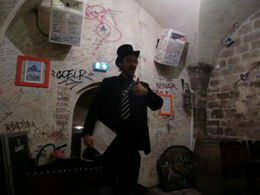 This is the beginning of our tour in the basement of the pub , Anthony S - October 2011