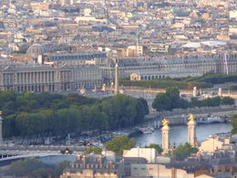 Zoomed in on Place de la Concorde from the 2nd floor of the Eiffel Tower , dizzledorf - August 2012