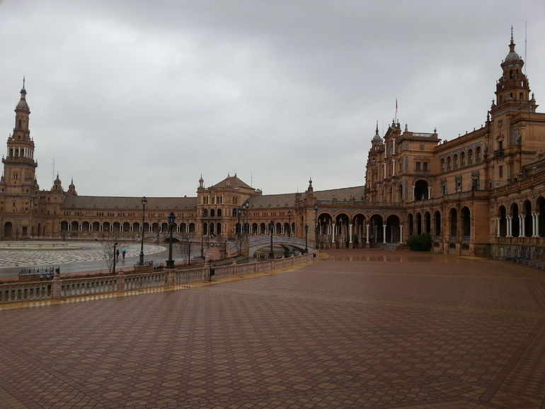 The Grand Plaza de Espana in Sevilla - Madrid