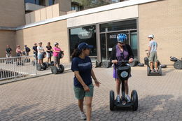 A hardly 5 minute training session is good enough to get you rolling on the Segway. , Amitabha - August 2012