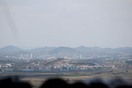 Taken from stop at observatory. View into North Korea. , Alisa W - October 2014