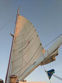 Main sail , Jeanne L - May 2017