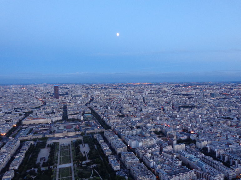 Beautiful Moon over Paris - Paris