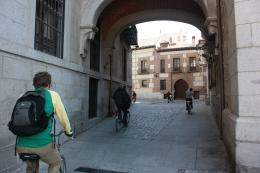Our group biking in Madrid., Tara C - October 2010