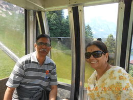 Om way up in cable car to Mount Titlis , SHUBHANG V - September 2013