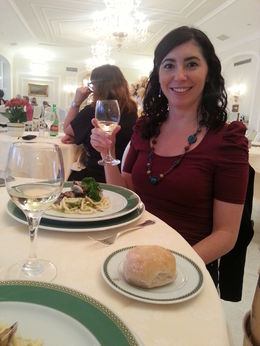Dinner at Sorrento hotel, Blanca - June 2014
