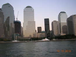 cruising the hudson, pic of buildings near the WTC, Carla F - October 2010