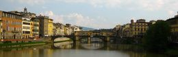 Wandering across the Ponte Santa Trinita, we paused to enjoy the view of the Ponte Vecchio, which we wandered across later in the tour. , Sandra S - November 2013