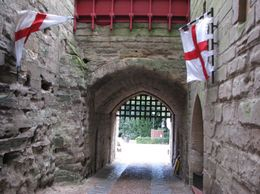 Going out of the Main Gate on the East side., Alfred George Cross - September 2009