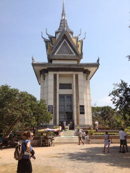 Memorial Stupa at the Killing Fields in Choeung Ek, Phnom Penh, Cat - February 2013