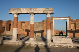 Beautiful columns and shadows in the late afternoon in Pompeii. , Jalmer J - November 2013