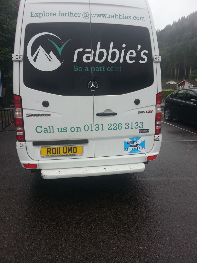 Rabbie tour bus - Edinburgh