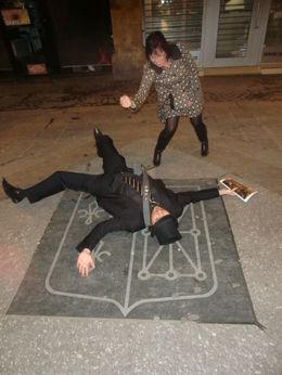 "Robin fell over saying ""arrrgggghhhhh please dont stab meeeeeeeee!!!!"" , Anthony S - October 2011"
