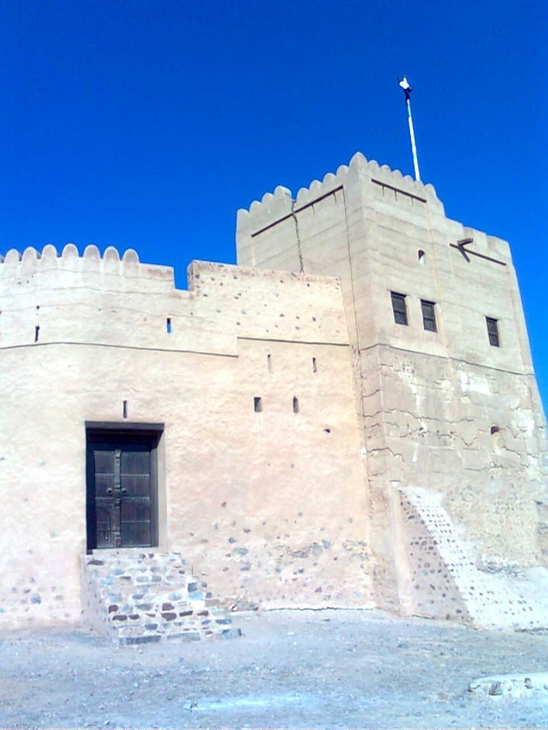 The fort built by the Portugese in Fujeirah - Dubai