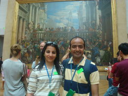 A family visit to the Louvre - Paris , gaureshmehra - August 2013