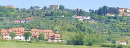 A view of the Toscana hillside from the bus. , CHERI S - September 2015