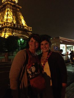 Eiffel Tower and Mackenzie and I at night , Melissa Q - September 2013