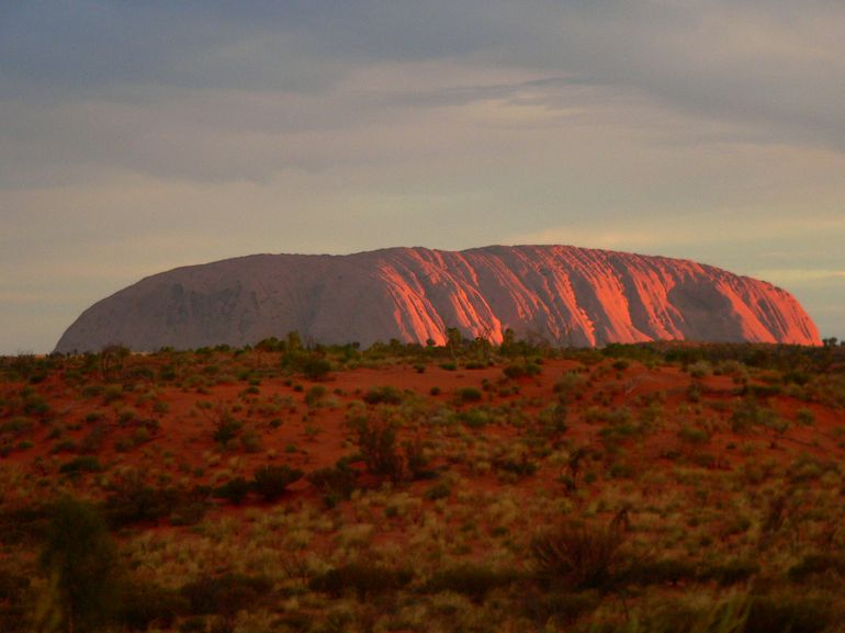 Uluru at sunset - Ayers Rock