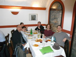 My family eating pasta for lunch on this great tour along with our two tour guides . , Apolinar P - April 2013