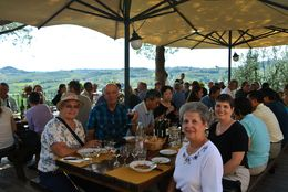 Enjoying lunch, wine tasting and view at Poggio Alloro. , Anthony D - September 2014