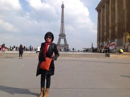 This is me -- with the Eiffel Tower in the background of course. I was never that excited about this tower until we drove past it. I did not realise how amazing this tower was and I was..., Bebe - May 2013