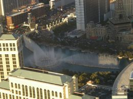 View of the Bellagio as we flew down the Las Vegas strip - by Jennifer H. - May 2011