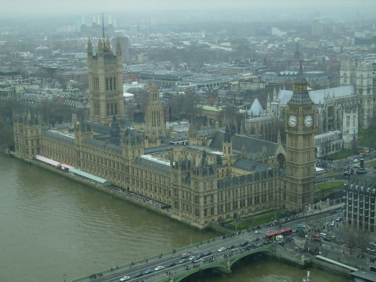 Big Ben from top of London Eye - London