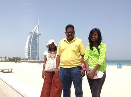 Jumeirah beach near Burj Al Arab , ASJ - May 2016
